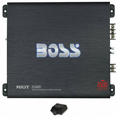 NEW 2500w Monoblock Car Subwoofer Amplifier.Power Speakers subs Amp.AB.Bass.knob