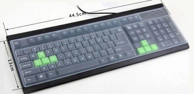 CLEAR TPU Keyboard Cover Skin for Universal Desktop Computer Keyboard A156