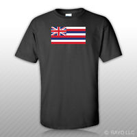Hawaii Flag T-shirt Tee Shirt Free Sticker Hawaiian State The Aloha