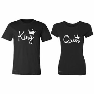 10867dd8460e9 Details about Valentine s Day couple matching King and Queen T shirt Tank  Top Cupid love tee
