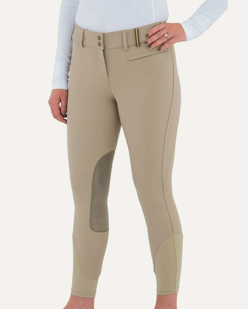 NOBLE OUTFITTERS Signiture Womens 28 Reg. Euro Seat  Beige Breech Riding Pants