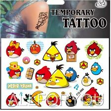 1x Angry Birds Temporary Tattoo Sheet Children Kids Birthday Party Bag Filler