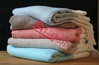 PESHTOW - Turkish Diamond Peshtemals, Peshtamal, Turkish Fouta, 100% Cotton