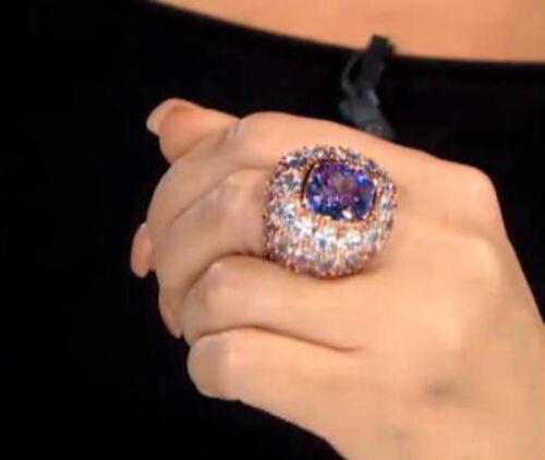 "CZ NIB HUGE Joan Boyce 53.80ct Cubic Zirconia /""All Gemmed Up/"" Domed Ring"