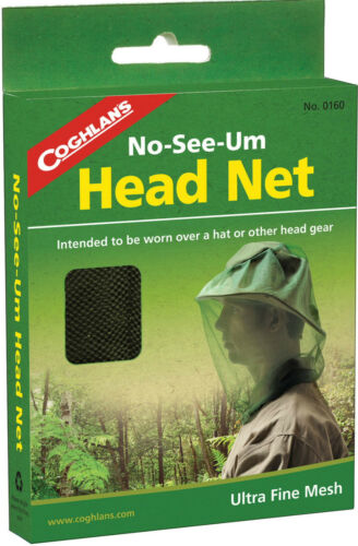 STOP NO-SEE-UM/'S MOSQUITO BEE FLY INSECT HEAD NET ULTRA FINE 1150 MESH