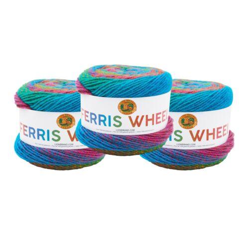 Lion Brand Yarn 217-604 Ferris Wheel Yarn Pack of 3 Cakes Sprinkles