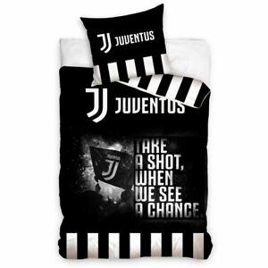 Euro-Juventus-FC-Take-A-Shot-Housse-Couette-Simple-Set-100-Coton-2-IN-1-Design