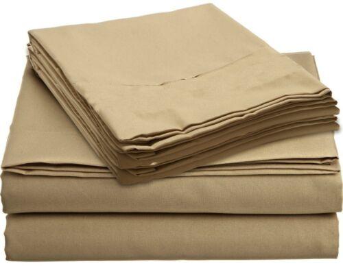 1500TC Light Taupe Solid Sheet Set 100/% Cotton Excellent Fit Pocket/'s 4-PCs