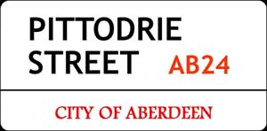 "11/"" x 5.75/"" Aberdeen-Metal Sign-PITTODRIE SCOTLAND Scottish Ecossais 100"