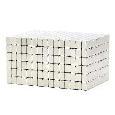 N52 Small strong 4mm x 3mm x 3mm Neodymium block magnets high grade SMALL PKS
