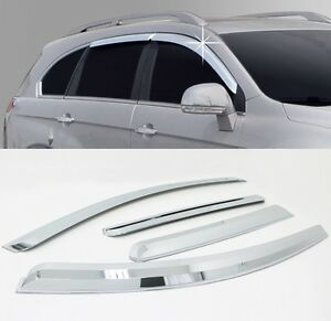 Chrome Window Sun Visor Vent Guard Wind Rain 4p For 2013-2016 Chevy ... aedf419afa4a