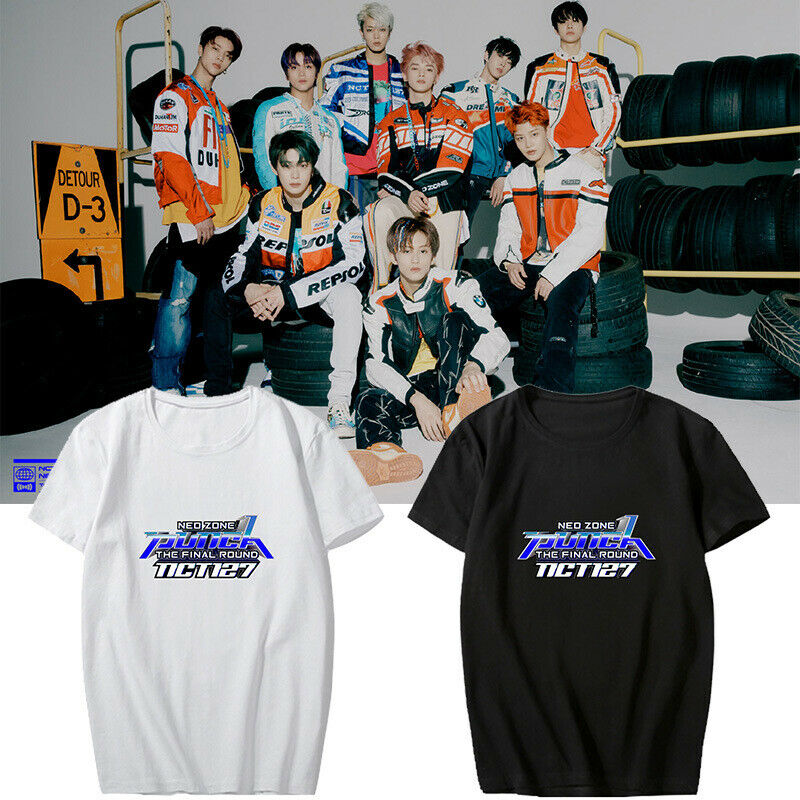 ACEFAST INC Kpop NCT127 Shirt Neo Zone T Shirt Taeyong Johnny Mark Jaehyun Doyoung Tour Tee Shirt