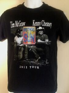TIM-MCGRAW-KENNY-CHESNEY-BROTHERS-OF-THE-SUN-TOUR-2012-SMALL-T-SHIRT-COUNTRY