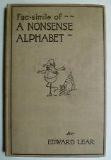Nonsense Alphabet, ABC Bücher, A B C, Kinderbücher, A B C, Edward Lear, Nonsense