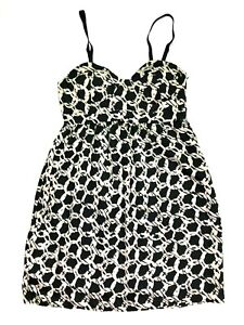 Audrey 3+1 bustier printed dress black white size small