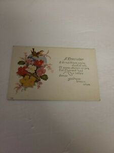 """Vintage Postcard - Greeting Card -""""A REMINDER"""" - Unposted Early 1900s - USA J71"""