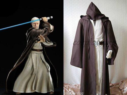 Star Wars Old Master Obi-Wan Ben Kenobi Jedi Knight Cosplay Costume Whole Set