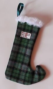 Harris Tweed Xmas Stockinggiftgreen tartanscottishchildrenpresentfamily - Helensburgh, United Kingdom - Harris Tweed Xmas Stockinggiftgreen tartanscottishchildrenpresentfamily - Helensburgh, United Kingdom
