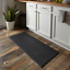 "thumbnail 1 - Kitchen Floor Mat Cushioned Indoor Home Decor No Slipping 20"" x 45"" Vinyl Black"