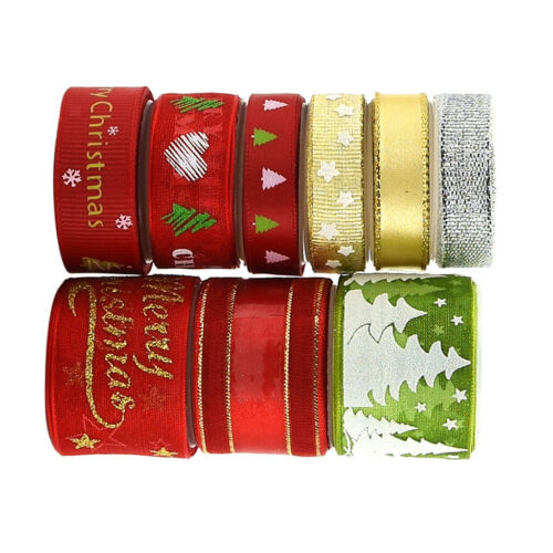 CRAFTS DECORATIONS 9 Styles CHRISTMAS RIBBON BUNDLES GIFT WRAPPING WREATH