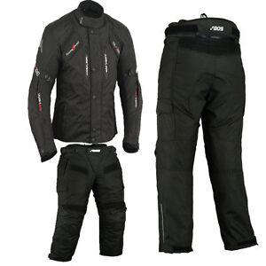 Motocicleta-Moto-Textil-Deportivo-Chaqueta-Traje-de-pantalon-Impermeable-CE-2XL