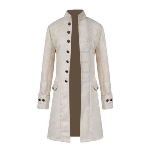 Vintage Mens Steampunk Tailcoat Jacket Gothic Victorian Frock Coat Cosplay Suit