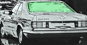 Mercedes-S-Klasse-2D-Coupe-C126-BJ-1982-92-heizbare-Heckscheibe-gruen-Verbund