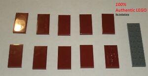 LEGO-NEW-2x4-Dark-Red-Tile-10x-6186003-Brick-87079