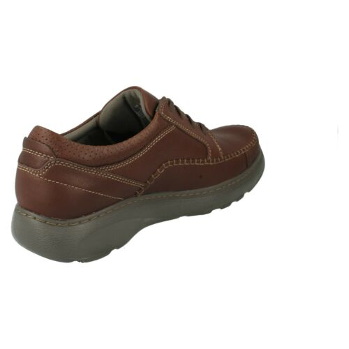 MENS CLARKS WIDE FIT LEATHER LACE UP LIGHTWEIGHT WORK CASUAL SHOES CHARTON VIBE