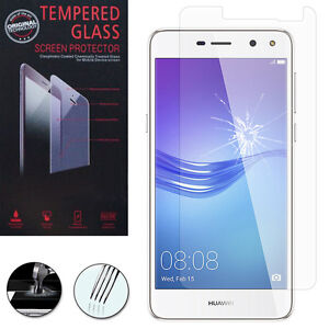 Y6 2017 UNEXTATI 9H Tempered Shatterproof Glass Screen Protector Compatible with Huawei Y5 2017 1 Pack Screen Protector for Y5 2017 Huawei Y6 2017