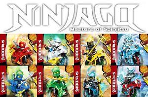 Ninjago-Season-11-Secrets-of-the-Forbidden-Spinjitzu-8pc-Motorcycle-Custom-Set