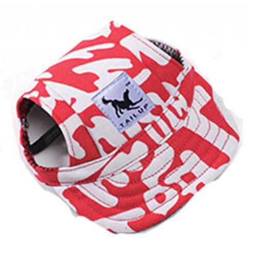 Summer Pet Dog Cute Print Cap Baseball Hat Dog Canvas Outdoor Hat Accessories