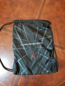 c62bf24b2b33e4 Nike Air Jordan Jump man Gym Sack Drawstring Bag Backpack Black ...