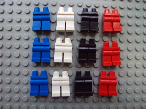 Lego Minifig ~ Mixed Lot Of 12 Legs//Pants People Parts Red White Blue Black NEW!
