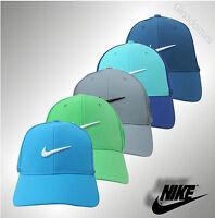 New Mens Genuine Nike Swoosh Tour Golf Cap Baseball Cap Black Grey White Navy