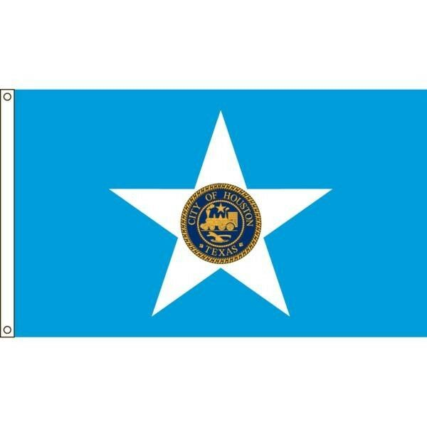 Houston City Nylon Flag 4'x6'