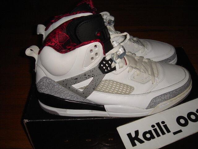 Nike Air Jordan  SPIZ'IKE  Jordan Size 12.5 WHITE CEMENT BHM 315371-101 BLACK B 00524b
