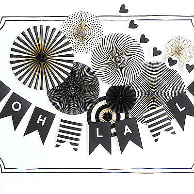 NEW Black & White party fans Women's by We Love Sundays