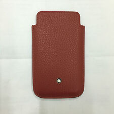 MONTBLANC porta SmartPhone Meisterstuck rosso Red 109148 LEATHER COVER Iphone 4