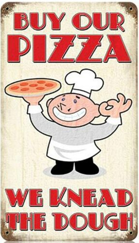 Buy Our Pizza rusted steel sign 360mm x 200mm pst