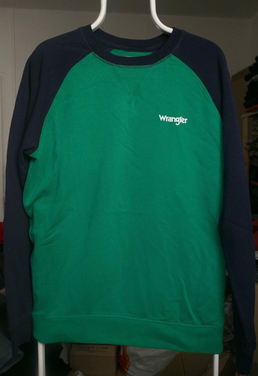Wrangler RAGLAN SWEAT Sweatshirt amazon Grün Grün Blau Größe XXL