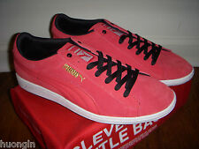 PUMA Bittersweet Red & Black SUPERSUEDE ECO-OrthoLite Sneaker Women's 11 - NEW