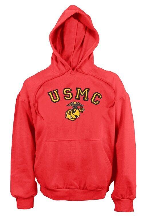 USMC Us Marines rosso hooded Army Pullover Con Cappuccio Felpa Hoody XXXL