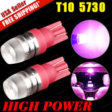 2 x Purple Pink T10/19Wedge High Power 1W LED 12V Interior Lights