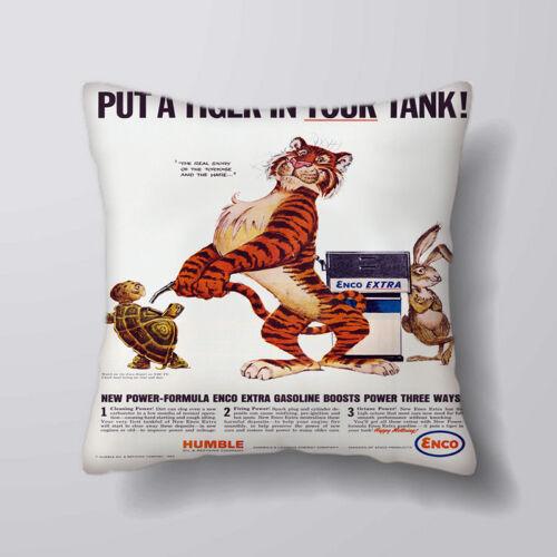 ESSO tigre dans votre réservoir imprimé housses de coussin oreiller cas home decor ou intérieure