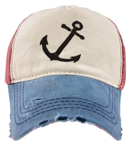 Baseball Cap Cottton Adjustable Strap Captain Yachting Summer Hat Red Navy Black