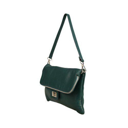 Handbag ItaliaItalian Green Forest Leather Made Brand New In Ybf6yvg7