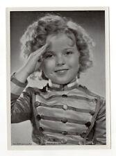 Shirley Temple 1937 Union Dresden Film Star Series 2 5X7 Cigarette Photo Card
