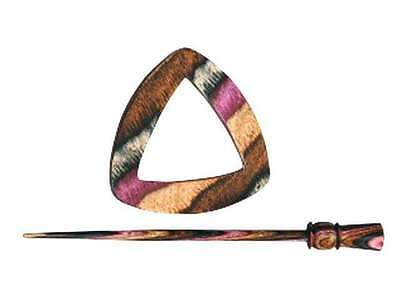 Electra :Symfonie Wood Lilac Shawl Pin #02: Knitter/'s Pride