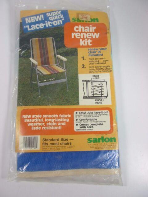 Admirable Details About Sarlon Vintage Lawn Garden Chair Replacement Webbing Fabric Renew Kit Blue White Machost Co Dining Chair Design Ideas Machostcouk